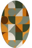 rug #1209823 | oval light-orange circles rug