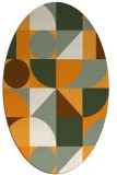 rug #1209824 | oval graphic rug