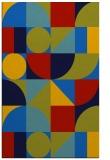 rug #1209863 |  blue circles rug