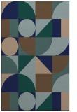 rug #1209871    blue geometry rug