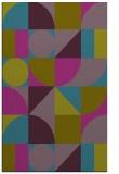 rug #1209911 |  pink circles rug