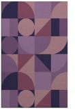 rug #1209927 |  purple circles rug