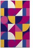 rug #1209931 |  blue-violet circles rug