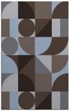 rug #1209939 |  blue-violet graphic rug