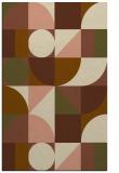 rug #1209983    mid-brown geometry rug