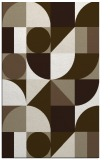 rug #1209995 |  mid-brown circles rug