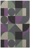 rug #1210019 |  purple circles rug