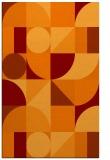 rug #1210043 |  red-orange circles rug