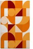 rug #1210047    orange graphic rug