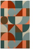 rug #1210051 |  beige circles rug