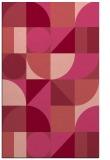 rug #1210067 |  pink circles rug