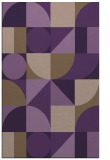 rug #1210083 |  purple retro rug