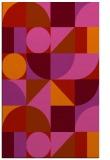 rug #1210103 |  pink circles rug