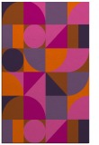 rug #1210115 |  red-orange circles rug