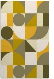 rug #1210151 |  yellow circles rug