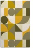 rug #1210151 |  yellow geometry rug