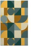 rug #1210163 |  yellow retro rug