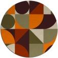 rug #1210199 | round beige abstract rug