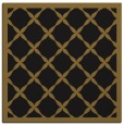 rug #121021 | square mid-brown borders rug