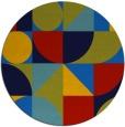 rug #1210231 | round blue circles rug