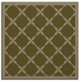 rug #121025 | square mid-brown borders rug
