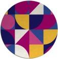 rug #1210299 | round blue-violet retro rug
