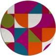 rug #1210315 | round red circles rug