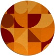 rug #1210411 | round red-orange circles rug