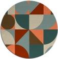 rug #1210419 | round orange circles rug