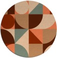 rug #1210423 | round red-orange circles rug