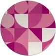 rug #1210427 | round pink circles rug