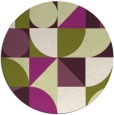 rug #1210447 | round green abstract rug