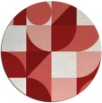 rug #1210468 | round abstract rug