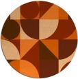 rug #1210479 | round red-orange retro rug