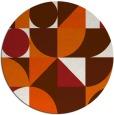 rug #1210487 | round red-orange retro rug