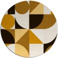 rug #1210503   round brown abstract rug