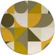 rug #1210519 | round yellow retro rug