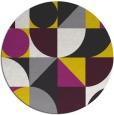 rug #1210527   round yellow retro rug