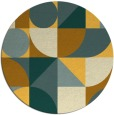 rug #1210531 | round light-orange circles rug
