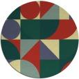 rug #1210535 | round yellow rug