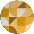 rug #1210555 | round light-orange geometry rug