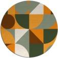 rug #1210559 | round light-orange circles rug