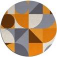 rug #1210563 | round light-orange circles rug