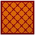 rug #121093 | square red-orange borders rug
