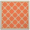 rug #121101   square orange borders rug