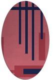 rug #1211396 | oval stripes rug
