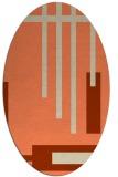 rug #1211523 | oval orange stripes rug