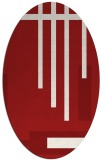 rug #1211571 | oval red abstract rug