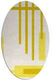 rug #1211599 | oval white graphic rug