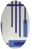 rug #1211603 | oval blue graphic rug
